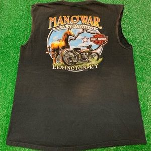 Harley Davidson Motorcycles Faded Sleeveless Shirt